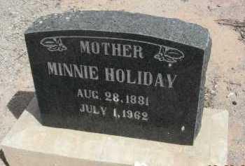 HOLLIDAY, MINNIE - Graham County, Arizona | MINNIE HOLLIDAY - Arizona Gravestone Photos