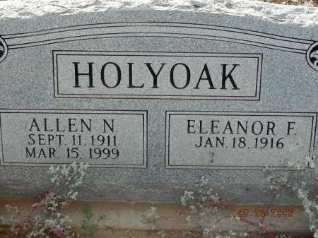 HOLYOAK, ELEANOR F - Graham County, Arizona | ELEANOR F HOLYOAK - Arizona Gravestone Photos