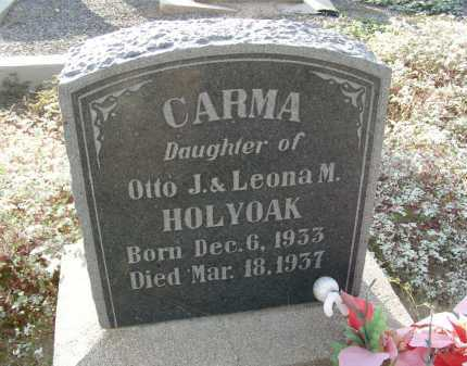 HOLYOAK, CARMA - Graham County, Arizona | CARMA HOLYOAK - Arizona Gravestone Photos