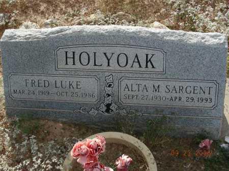 HOLYOAK, FRED LUKE - Graham County, Arizona | FRED LUKE HOLYOAK - Arizona Gravestone Photos