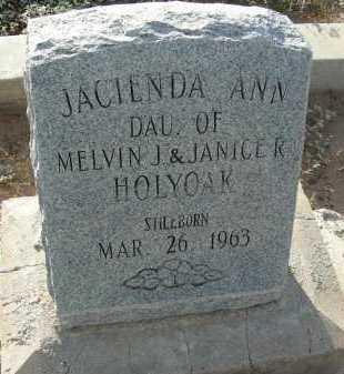 HOLYOAK, JACIENDA ANN - Graham County, Arizona | JACIENDA ANN HOLYOAK - Arizona Gravestone Photos