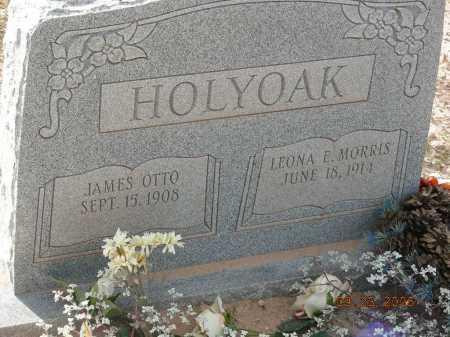 HOLYOAK, LEONA E - Graham County, Arizona | LEONA E HOLYOAK - Arizona Gravestone Photos