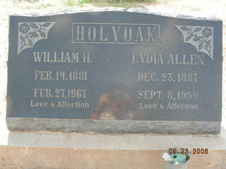 HOLYOAK, WILLIAM H - Graham County, Arizona   WILLIAM H HOLYOAK - Arizona Gravestone Photos