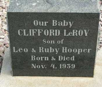 HOOPER, CLIFFORD LEROY - Graham County, Arizona | CLIFFORD LEROY HOOPER - Arizona Gravestone Photos