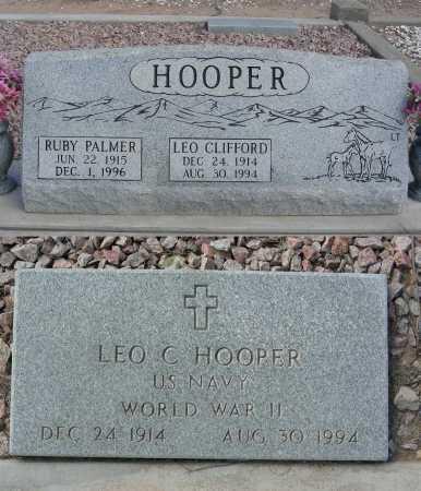 HOOPER, LEO CLIFFORD - Graham County, Arizona | LEO CLIFFORD HOOPER - Arizona Gravestone Photos