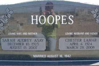 HOOPES, SARAH AUDREY - Graham County, Arizona | SARAH AUDREY HOOPES - Arizona Gravestone Photos