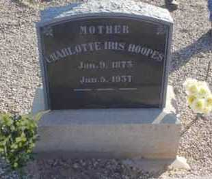 CURTIS HOOPES, CHARLOTTE IRIS - Graham County, Arizona | CHARLOTTE IRIS CURTIS HOOPES - Arizona Gravestone Photos