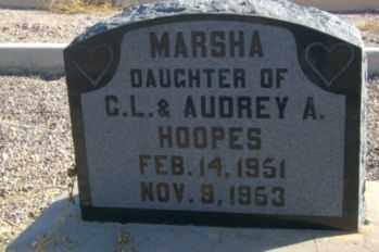 HOOPES, MARSHA - Graham County, Arizona | MARSHA HOOPES - Arizona Gravestone Photos