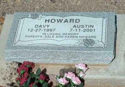 HOWARD, DAVY AUSTIN - Graham County, Arizona | DAVY AUSTIN HOWARD - Arizona Gravestone Photos