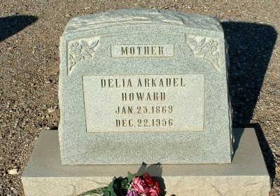 HOWARD, DELIA - Graham County, Arizona | DELIA HOWARD - Arizona Gravestone Photos