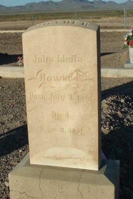 HOWARD, JULIA IDELLA - Graham County, Arizona | JULIA IDELLA HOWARD - Arizona Gravestone Photos