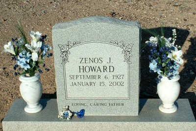 HOWARD, ZENOS J. - Graham County, Arizona | ZENOS J. HOWARD - Arizona Gravestone Photos
