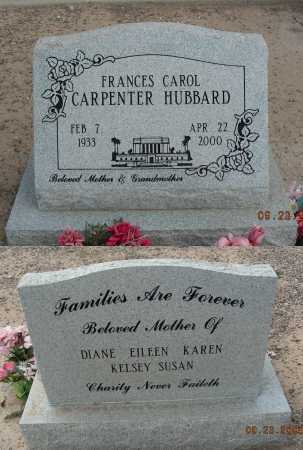 CARPENTER HUBBARD, FRANCES CAROL - Graham County, Arizona | FRANCES CAROL CARPENTER HUBBARD - Arizona Gravestone Photos