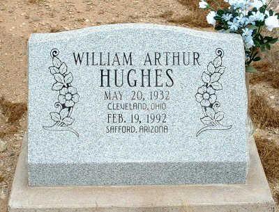 HUGHES, WILLIAM ARTHUR - Graham County, Arizona   WILLIAM ARTHUR HUGHES - Arizona Gravestone Photos