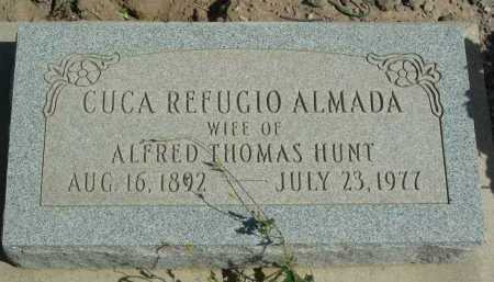 ALMADA HUNT, CUCA REFUGIO - Graham County, Arizona   CUCA REFUGIO ALMADA HUNT - Arizona Gravestone Photos
