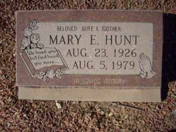 HUNT, MARY E. - Graham County, Arizona | MARY E. HUNT - Arizona Gravestone Photos