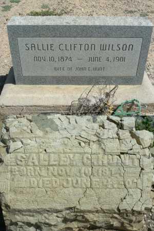 HUNT, SALLIE CLIFTON - Graham County, Arizona   SALLIE CLIFTON HUNT - Arizona Gravestone Photos