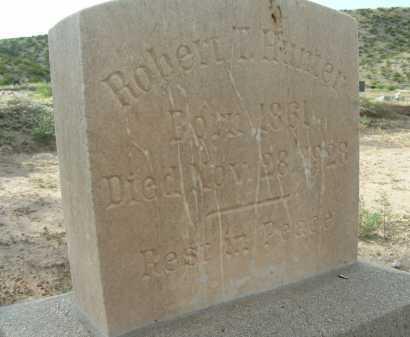 HUNTER, ROBERT T - Graham County, Arizona | ROBERT T HUNTER - Arizona Gravestone Photos