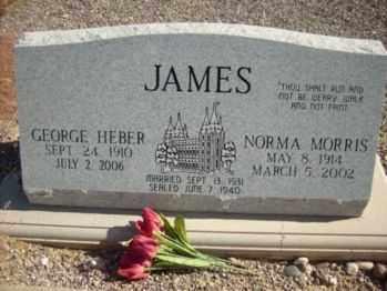 MORRIS JAMES, NORMA - Graham County, Arizona | NORMA MORRIS JAMES - Arizona Gravestone Photos