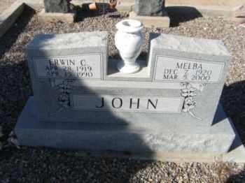 JOHN, MELBA - Graham County, Arizona   MELBA JOHN - Arizona Gravestone Photos
