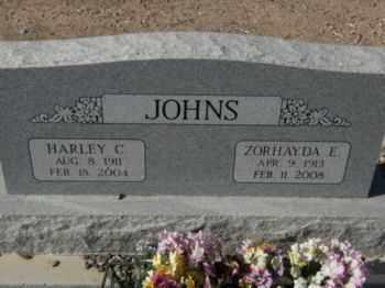 JOHNS, ZORHAYDA - Graham County, Arizona | ZORHAYDA JOHNS - Arizona Gravestone Photos