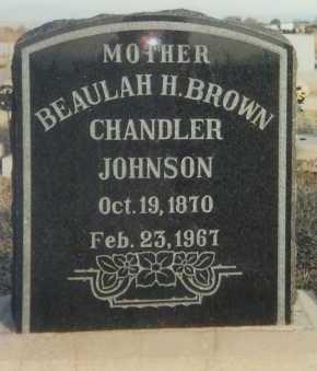 JOHNSON, BEAULAH H. - Graham County, Arizona   BEAULAH H. JOHNSON - Arizona Gravestone Photos