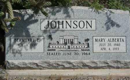 JOHNSON, BERNHART E - Graham County, Arizona | BERNHART E JOHNSON - Arizona Gravestone Photos