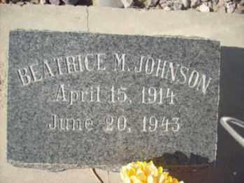 MATTHEWS JOHNSON, BEATRICE - Graham County, Arizona | BEATRICE MATTHEWS JOHNSON - Arizona Gravestone Photos