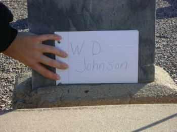 JOHNSON, W.D. - Graham County, Arizona | W.D. JOHNSON - Arizona Gravestone Photos
