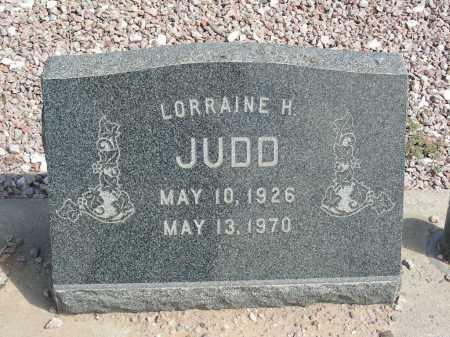 JUDD, LORRAINE H - Graham County, Arizona | LORRAINE H JUDD - Arizona Gravestone Photos