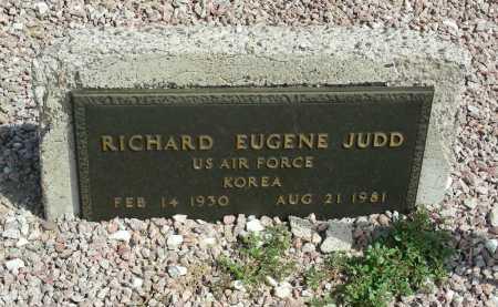 JUDD, RICHARD EUGENE - Graham County, Arizona | RICHARD EUGENE JUDD - Arizona Gravestone Photos
