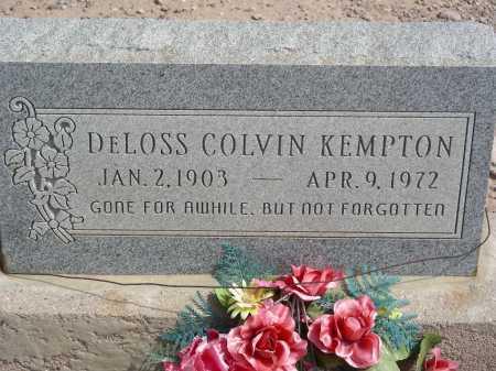 KEMPTON, DELOSS COLVIN - Graham County, Arizona   DELOSS COLVIN KEMPTON - Arizona Gravestone Photos