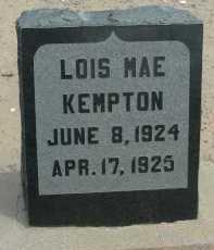 KEMPTON, LOIS MAE - Graham County, Arizona   LOIS MAE KEMPTON - Arizona Gravestone Photos