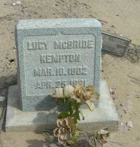 KEMPTON, LUCY VETTA - Graham County, Arizona | LUCY VETTA KEMPTON - Arizona Gravestone Photos