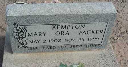 PACKER KEMPTON, MARY ORA - Graham County, Arizona   MARY ORA PACKER KEMPTON - Arizona Gravestone Photos