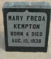 KEMPTON, MARY FREDA - Graham County, Arizona   MARY FREDA KEMPTON - Arizona Gravestone Photos
