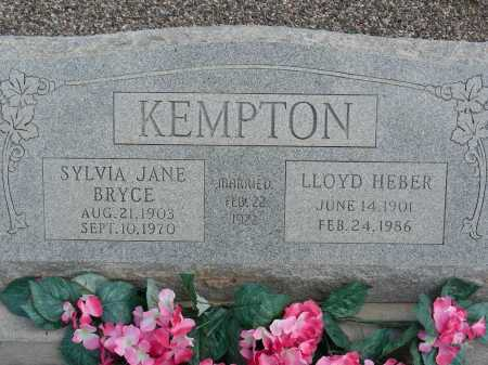 KEMPTON, LLOYD HEBER - Graham County, Arizona | LLOYD HEBER KEMPTON - Arizona Gravestone Photos