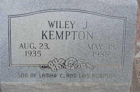 KEMPTON, WILEY J - Graham County, Arizona | WILEY J KEMPTON - Arizona Gravestone Photos