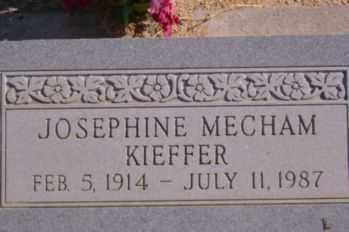 MECHAM KIEFFER, JOSEPHINE - Graham County, Arizona | JOSEPHINE MECHAM KIEFFER - Arizona Gravestone Photos