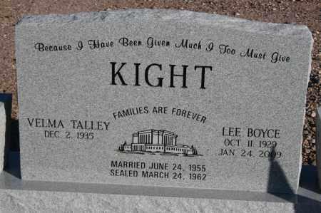 KIGHT, LEE BOYCE - Graham County, Arizona | LEE BOYCE KIGHT - Arizona Gravestone Photos