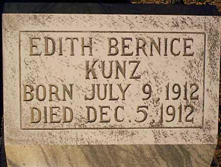 KUNZ, EDITH BERNICE - Graham County, Arizona   EDITH BERNICE KUNZ - Arizona Gravestone Photos