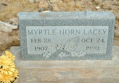 HORN LACEY, MYRTLE - Graham County, Arizona   MYRTLE HORN LACEY - Arizona Gravestone Photos
