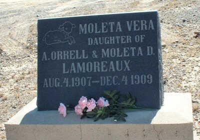 LAMOREAUX, MOLETA VERA - Graham County, Arizona   MOLETA VERA LAMOREAUX - Arizona Gravestone Photos