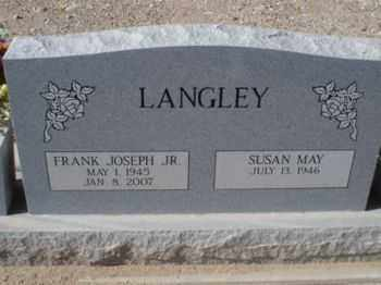 LANGLEY, SUSAN MAY - Graham County, Arizona | SUSAN MAY LANGLEY - Arizona Gravestone Photos