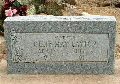 LAYTON, OLLIE MAY - Graham County, Arizona | OLLIE MAY LAYTON - Arizona Gravestone Photos