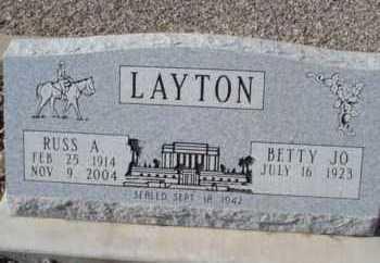 LAYTON, RUSS ALEXANDER - Graham County, Arizona | RUSS ALEXANDER LAYTON - Arizona Gravestone Photos