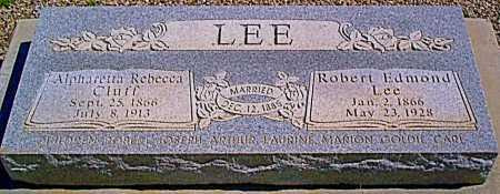 LEE, ROBERT EDMOND - Graham County, Arizona | ROBERT EDMOND LEE - Arizona Gravestone Photos