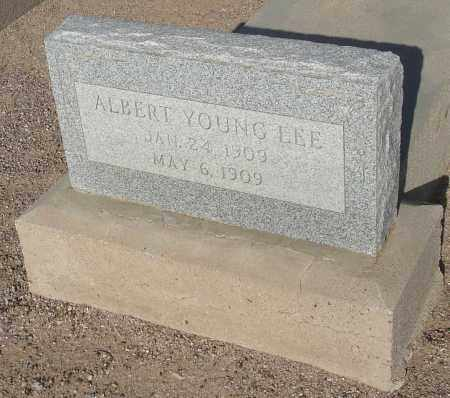 LEE, ALBERT YOUNG - Graham County, Arizona | ALBERT YOUNG LEE - Arizona Gravestone Photos