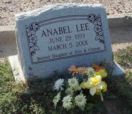 LEE, ANABEL - Graham County, Arizona   ANABEL LEE - Arizona Gravestone Photos
