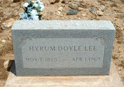 LEE, HYRUM DOYLE - Graham County, Arizona | HYRUM DOYLE LEE - Arizona Gravestone Photos
